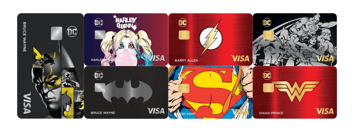 dc power visa designs - La nueva tarjeta de crédito Rewards presenta personajes icónicos de DC Comics