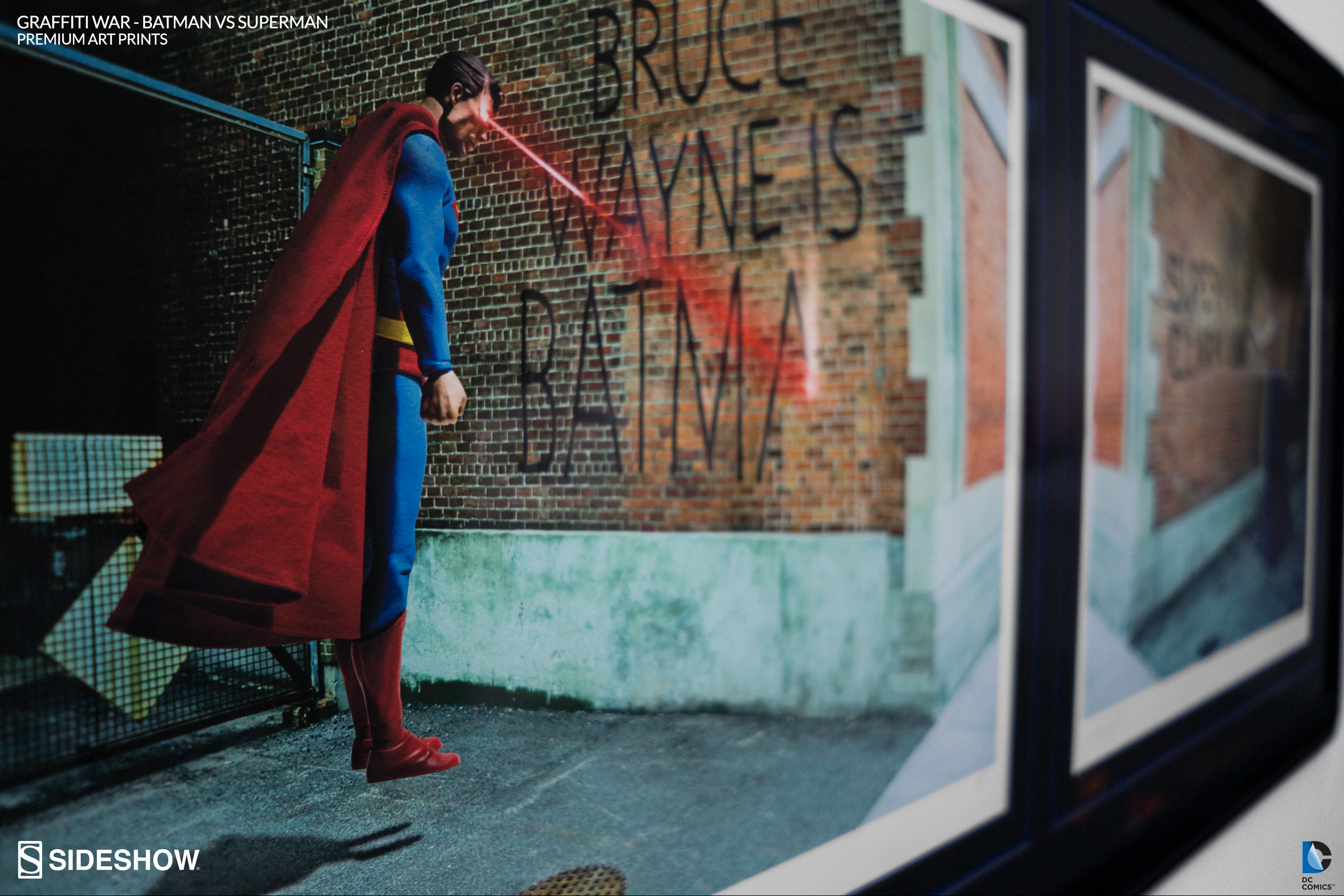 "March 25, 2016: ""Graffiti War: Batman vs Superman"" Premium Art Print"